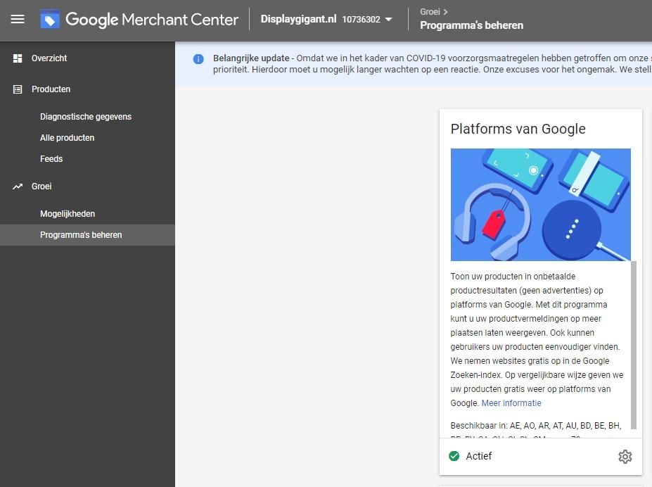 Google Shopping platforms